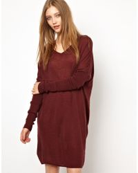 Ganni Fine Knit Tunic Dress - Lyst