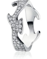 Georg Jensen - Pave Diamond Fusion Ring Centre - Lyst