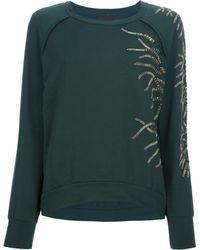 Jo No Fui - Bead Embellished Sweatshirt - Lyst