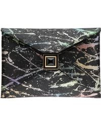 Kara Ross - Lizard Prunella Envelope Clutch - Lyst