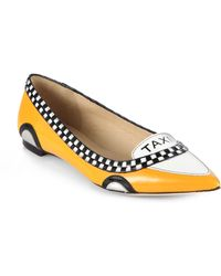 Kate Spade Go Taxi Leather Flats - Lyst