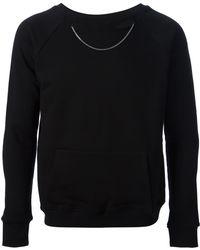 Saint Laurent Embellished Sweater - Lyst