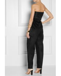 The Row - Topa Silk Satin and Cashmere Jumpsuit - Lyst