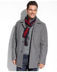 Tommy Hilfiger Melton Wool Walking Coat - Lyst