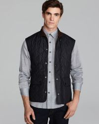 Barbour - Lowerdale Quilted Polar Fleece Gilet Vest - Lyst