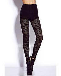 Forever 21 Daring Crochet Leggings - Lyst