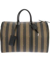 Fendi Pequin Luggage Case - Lyst