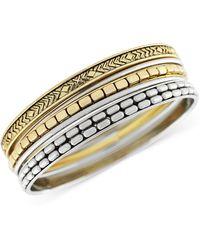 Jessica Simpson - Twotone Textured Bangle Bracelets - Lyst