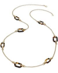 Lauren by Ralph Lauren - 14K Gold-Plated Tortoise Link Illusion Necklace - Lyst