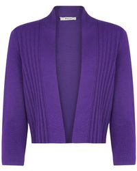 Precis Petite Royal Purple Pleat Detail Shrug - Lyst