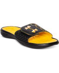 Under Armour Playmaker Slide Sandals - Lyst