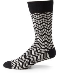 Hook + Albert - Zig Zag Printed Socks - Lyst