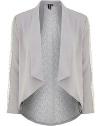 Izabel London - Lace Back Waterfall Blazer - Lyst