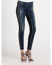 Roberto Cavalli Fraydetailed Skinny Jeans - Lyst