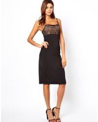 Asos Cami With Lace Top Dress - Lyst