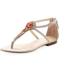 Boutique 9 - Broden Embellished Sandal Light Gray - Lyst