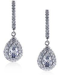 Carat* - Pear Border Set Drop Earrings - Lyst