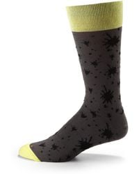 Hook + Albert - Ink Splatter Dress Socks - Lyst