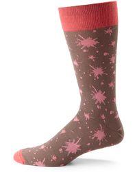 Hook + Albert - Ink Splatter Dress Socks - Lyst