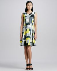 Kate Spade Carol Abstractprint Dress - Lyst