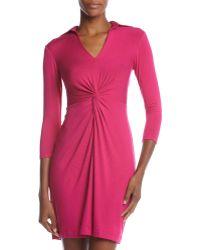 Muse Knot-Waist Jersey Dress - Lyst