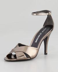 Pour La Victoire Kalinda Mirrored Leather Sandal - Lyst