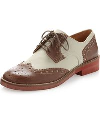 Steven by Steve Madden - Banx Oxford Laceup Cognac - Lyst