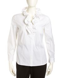 Studio 148 By Lafayette 148 New York - Tessa Sleeveless Stretch Blouse White Womens 16w - Lyst