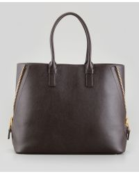 Tom Ford Jennifer Trapeze Calfskin Tote Bag Brown - Lyst