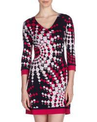 Ali Ro Bateau-Neck Print-Jersey Dress - Lyst