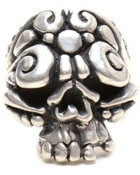Duffy - Sterling Silver Ornate Skull Ring - Lyst