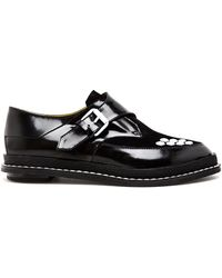 Pollini Patent Leather Creeper Brogues - Lyst