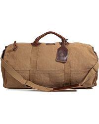 Ralph Lauren - Canvas Leather Barrel Duffle Bag in Khaki - Lyst
