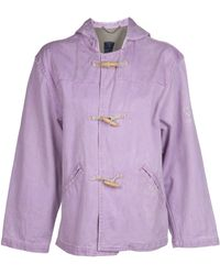 Valentino Vintage Washed Hooded Coat - Lyst