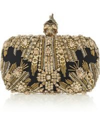 Alexander McQueen The Skull Swarovski Crystalembellished Box Clutch - Lyst