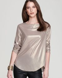 Anne Klein - Foiled Blouse - Lyst