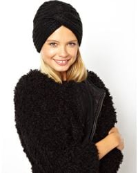 Asos Asos Knitted Turban Hat - Lyst