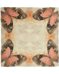 Athena Procopiou - Pink Butterfly Print Scarf - Lyst
