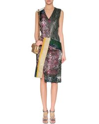 Preen Multicolored Python Patchwork Dress - Lyst