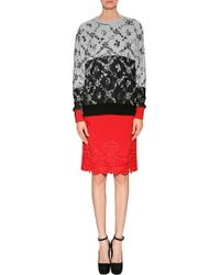 Preen Cotton Shadow Sweatshirt in Harlequin Leaf - Lyst