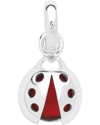 Links of London - Sterling Silver Ladybug Red Glass Charm - Lyst