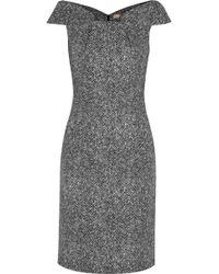 Michael Kors Origami-folded Wool-tweed Dress - Lyst