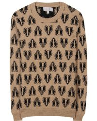 Mulberry Badger Camel and Cashmere blend Pullover - Lyst
