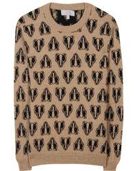 Mulberry Badger Camel and Cashmere blend Pullover beige - Lyst