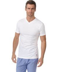Polo Ralph Lauren Men'S Slim-Fit Classic Cotton V-Neck T-Shirt 3-Pack - Lyst