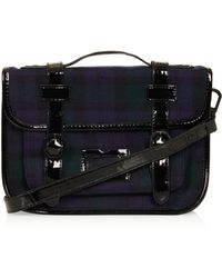 Topshop Tartan Mini Mary Satchel - Lyst