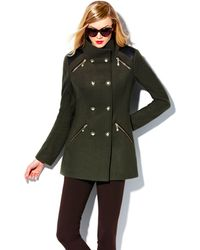Vince Camuto Wool Military Coat - Lyst