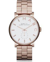 Marc By Marc Jacobs Baker Rose Goldtone Stainless Steel Bracelet Watch - Lyst