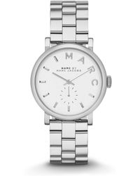 Marc By Marc Jacobs Baker Stainless Steel Bracelet Watch silver - Lyst