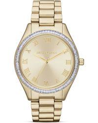 Michael Kors Exclusive Mid-size Gold Tone Blake Three-hand Glitz Watch  - Lyst